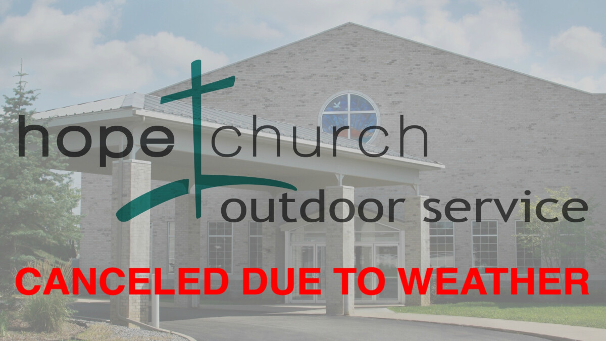 CANCELED Outdoor Service October 18 at 10AM