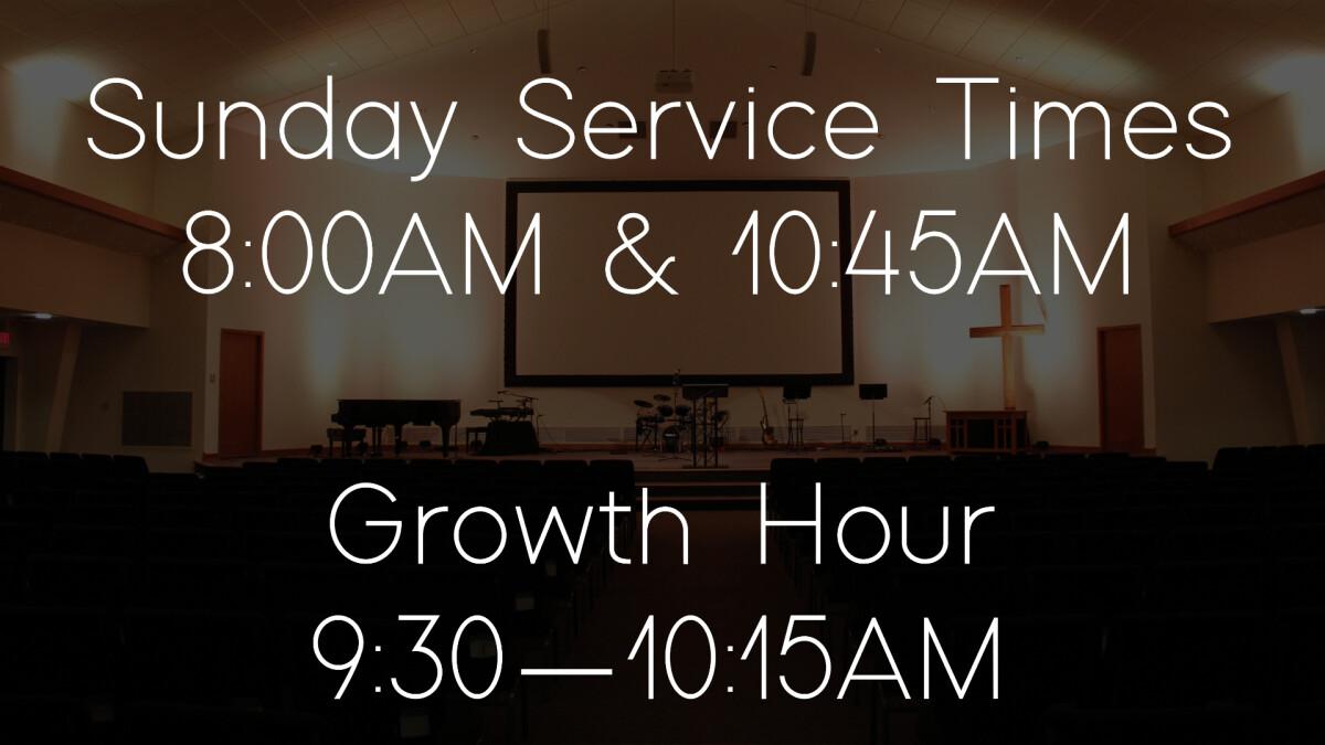 New Sunday Service Times